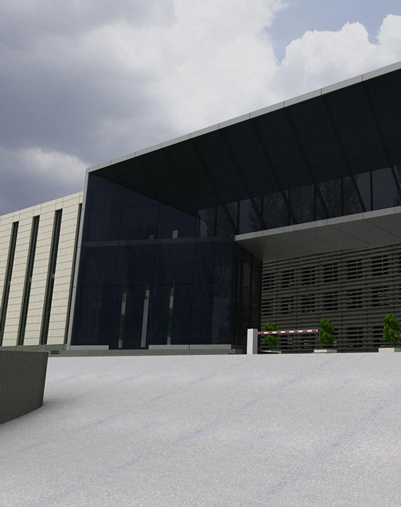 foto kontseptual'nogo resheniya fasada zdaniya Armeniya TV
