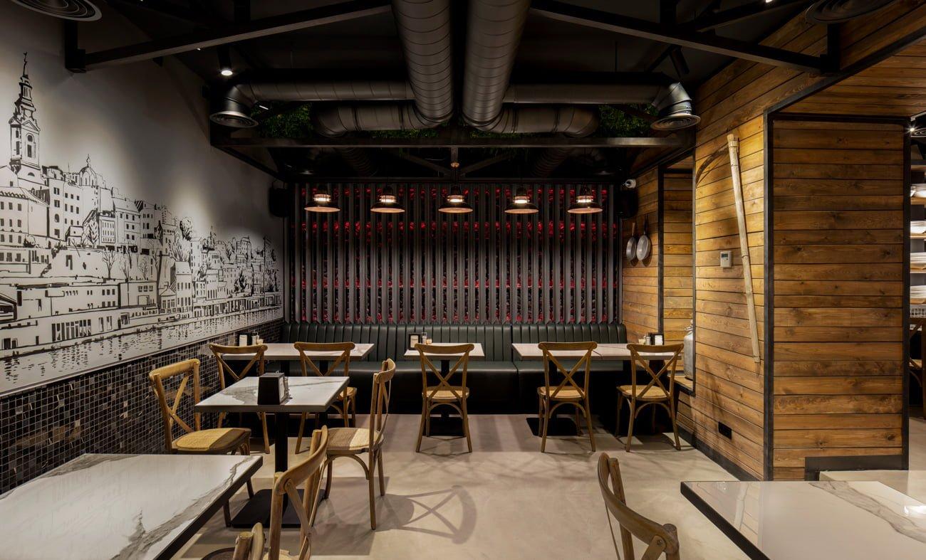 фото проекта ресторана Grillian в деталях оформлении и отделке разработан IMAGEMAN