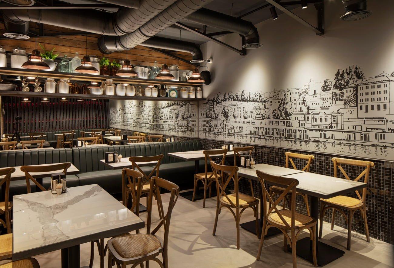 фото результата работы дизайнеров IMAGEMAN проекта ресторан под ключ дайнера Grillian